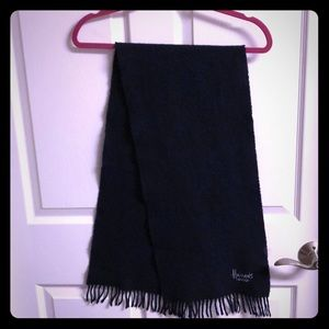Harrods London Dark Blue Scarf Wool Scotland